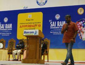 Entrepreneurship @ Sairam College of Engineering, Chennai